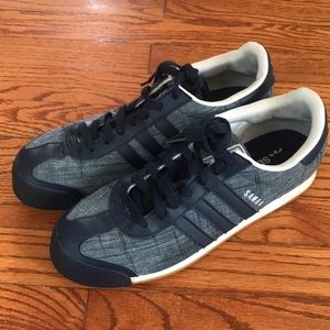MEN'S ADIDAS SAMOA TEXTIL ATHLETIC SHOES BLUE 10